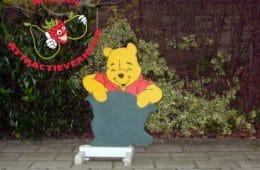 Geboorte bord Winnie the Pooh met schoolbord