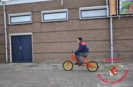 Hobbel waggel fiets oranje