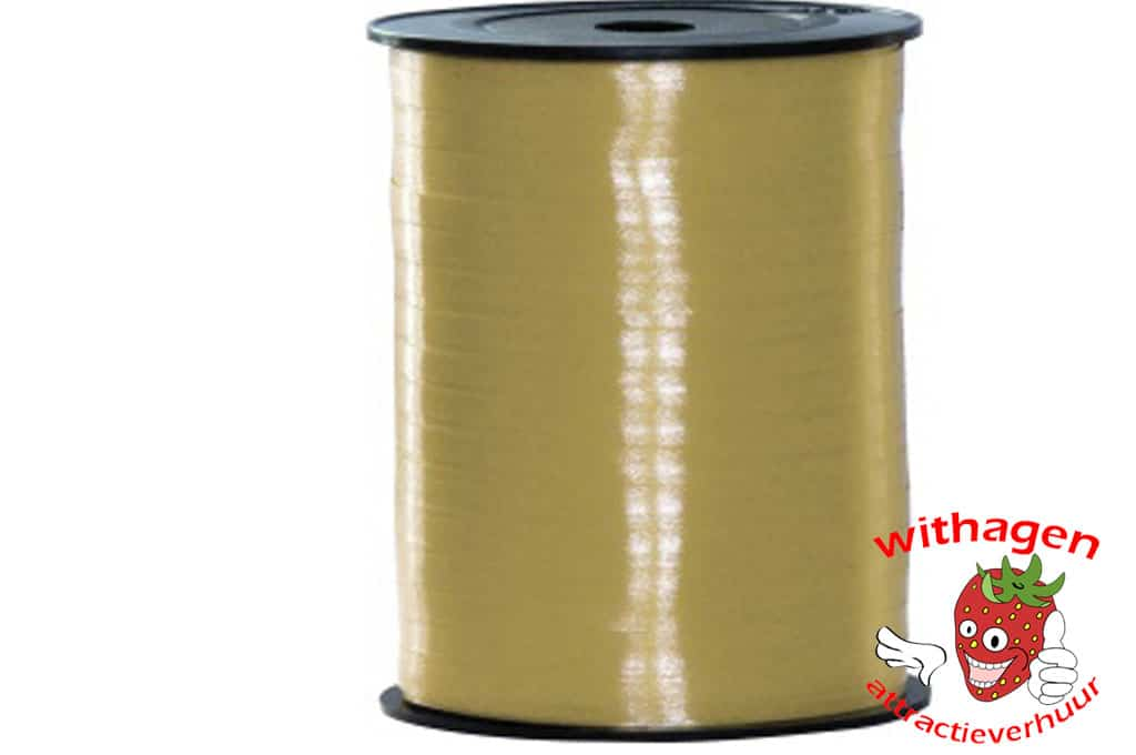 Polyband 500m x 5mm goud