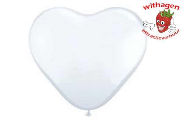Heliumballon Hart Wit