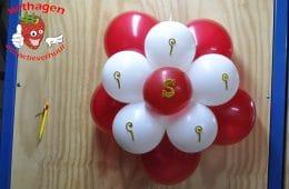 ballonnen bloem met Sint of piet decoractie