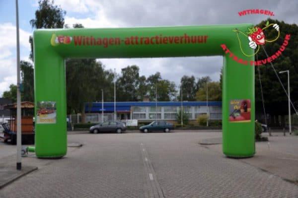 Start en finish welkomstboog Withagen-attractieverhuur