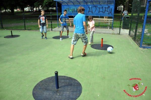 straatvoetbal spel