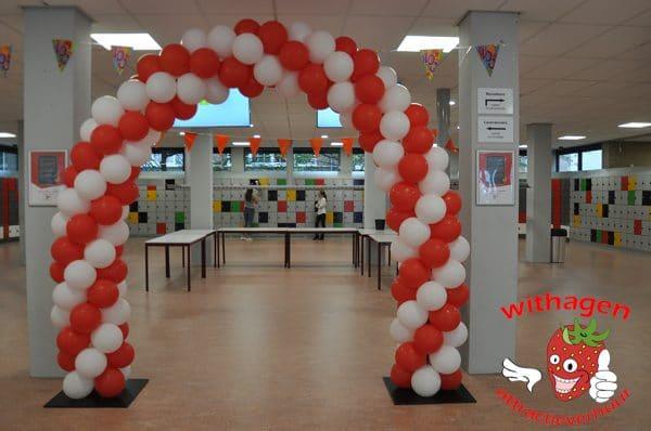 Ballonnenboog 6 meter Rood Wit