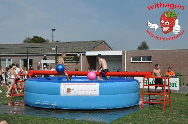 Zwembad evenwichtbalk start
