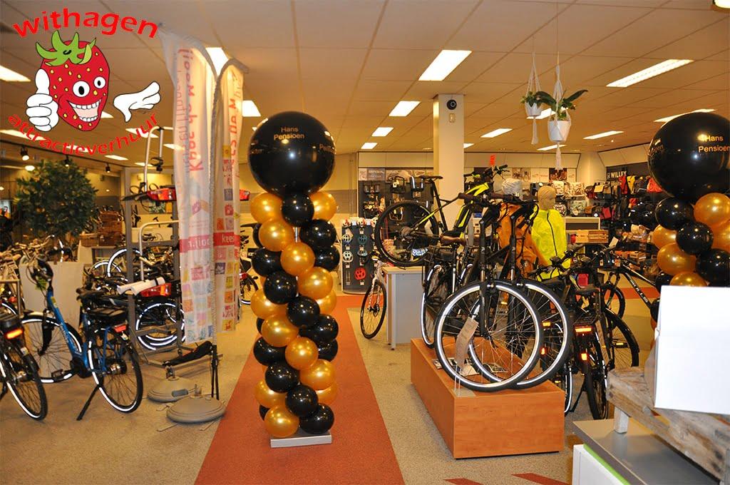 Zwart Gouden Balonnen pilaar