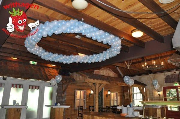 Ballonnen cirkel voor plafond