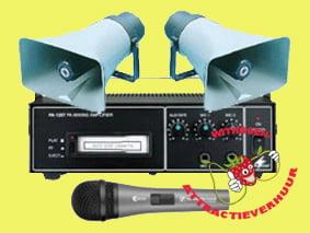 12 volts P.A. omroep Geluidsinstallatie