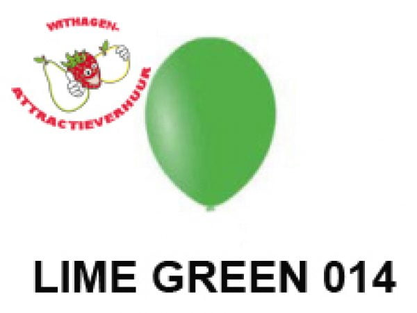 Helium Ballon LIME GREEN 014
