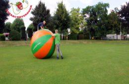Wereldbal reuzebal groen/oranje