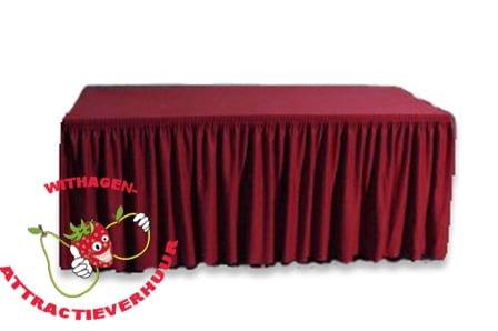 Buffetrok met tafelkleed bordeaux rood