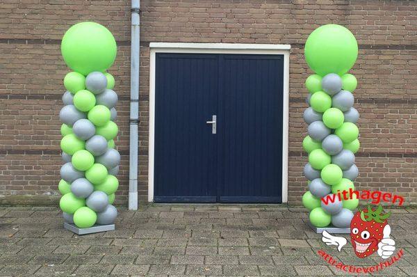 Ballonnen pilaar Groen / grijs