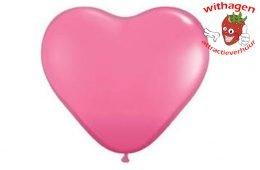 Heliumballon Hart Roze 90 cm