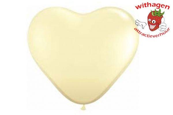 Heliumballon Hart Ivoor