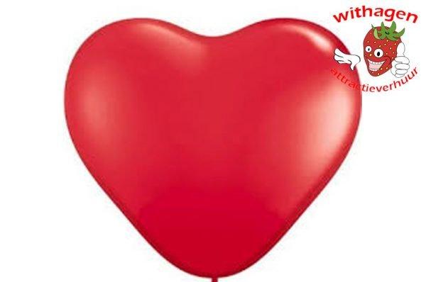 Heliumballon Hartje Rood 11 inch (28 CM)