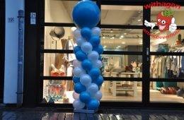 Ballonnen pilaar Tropical Teal/Pearl White