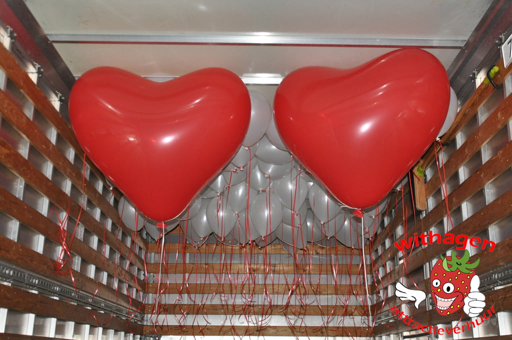 Heliumballon Hart Rood 90 cm