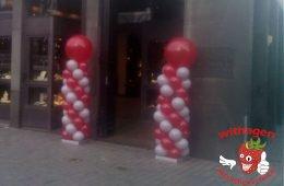 Ballonnen pilaar Donkerroze/Grijs
