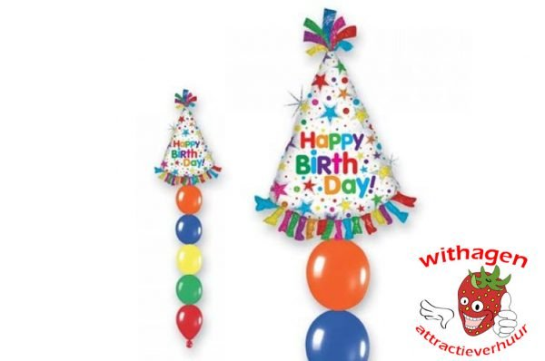 Helium Ballon Happy Birthday Hat