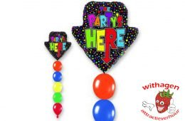Helium Ballon Party's Here Standard