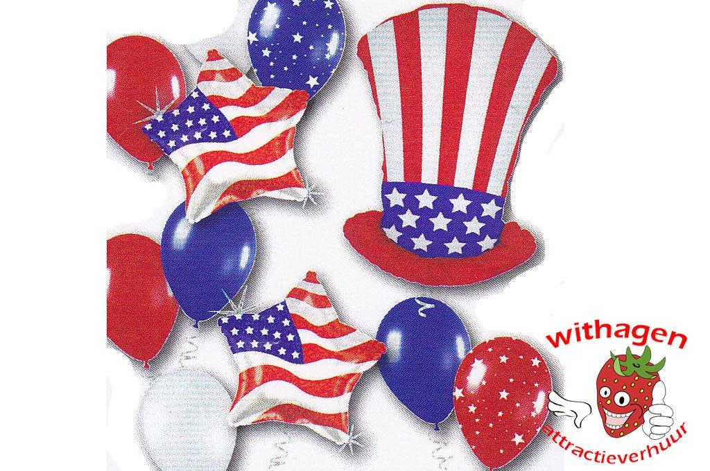 Helium Ballon Patriotic Uncle Sam Standard