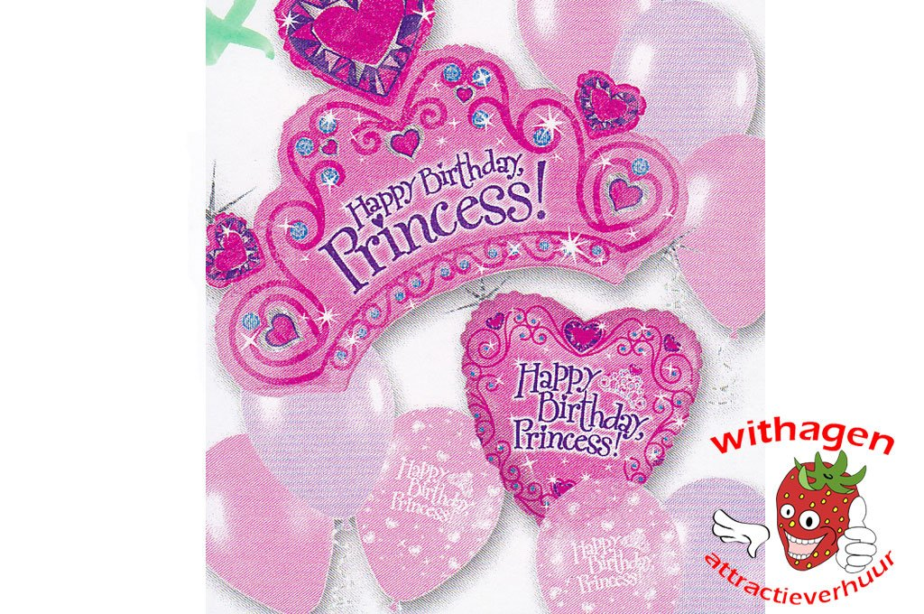 Helium Ballon Birthday Princess Standard