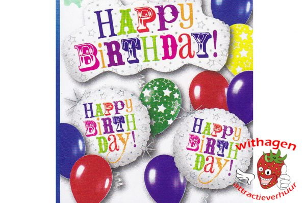 Helium Ballon Birthday Greetings Standard