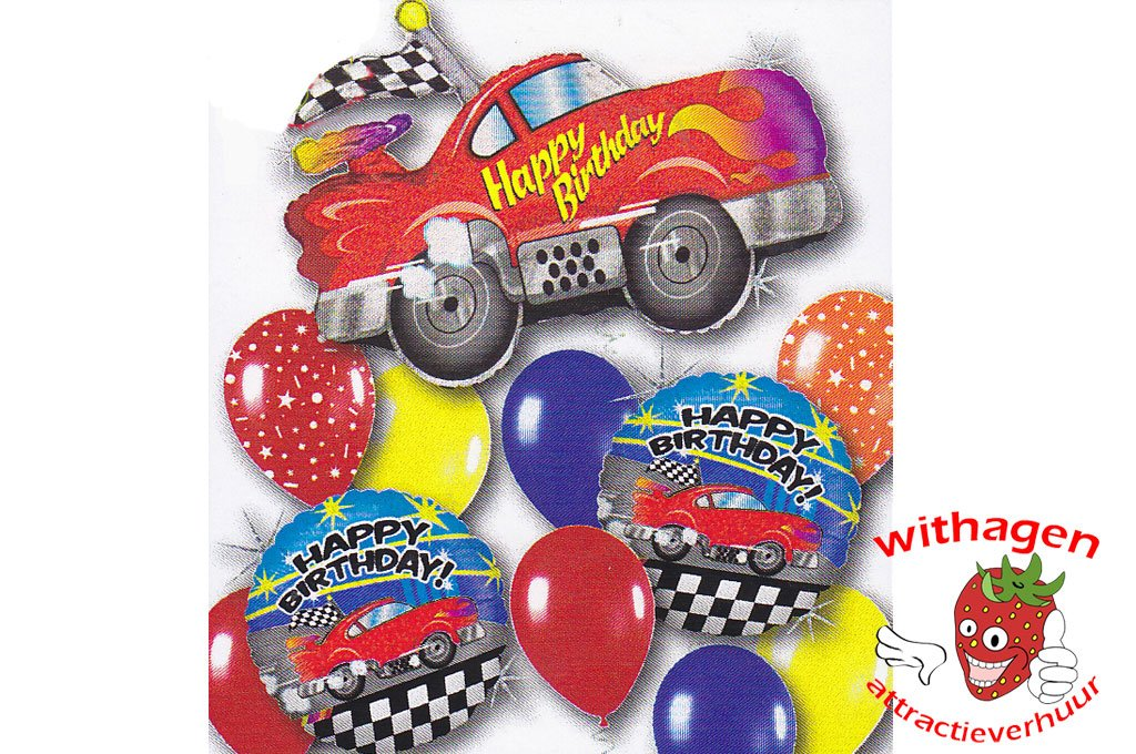 Helium Ballon Sports Car Birthday Standard