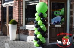Ballonnen pilaar Fashion Lime green / Onyx zwart