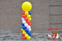 Ballonnen pilaar rood wit blauw geel