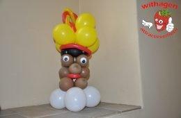 Ballonnen zwarte Piet staand 45 cm