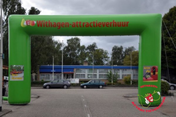 Start en finish welkomstboog Withagen-attractieverhuur