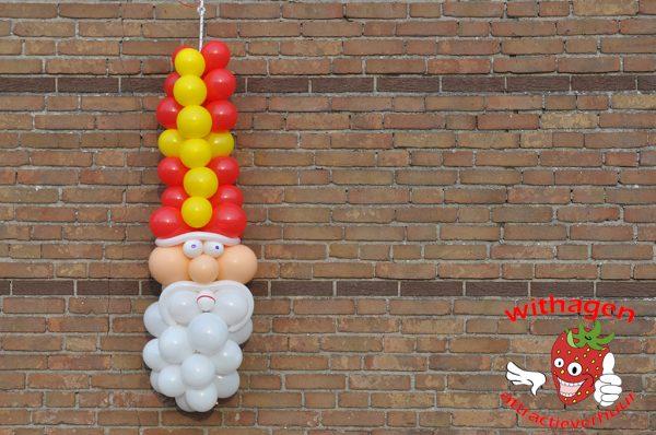 Ballon Sinterklaas aan de muur