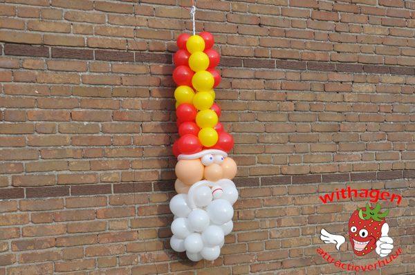 Ballonnen wandfiguur Sinterklaas