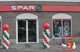 Ballonnen Pilaar rood wit groen