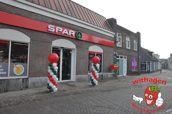 Ballonenpilaar Spar winkel