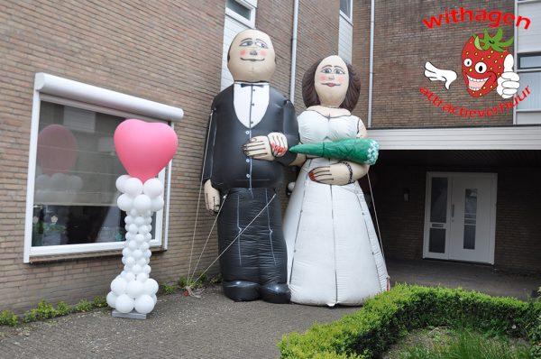 Bruid en Bruidegom opblaasbaar