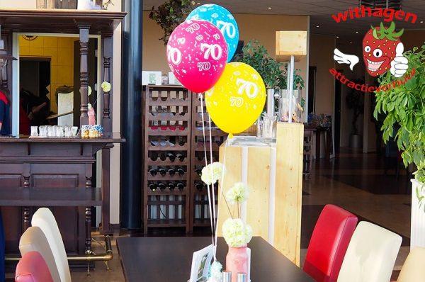 tafeldecoratie 70 3 ballonnen