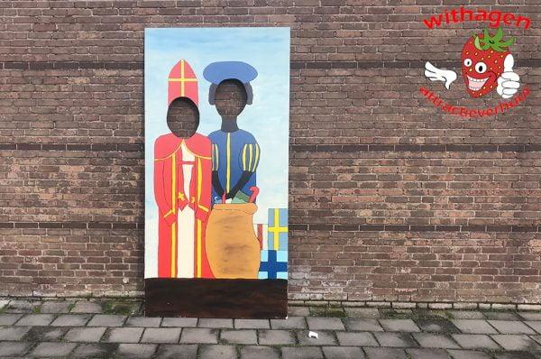 Fotoplaat Sinterklaas en Zwarte Piet