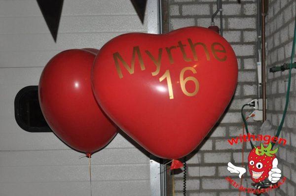 Hartjesballon met letters