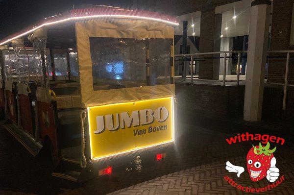 Jumbo supermarkt trein
